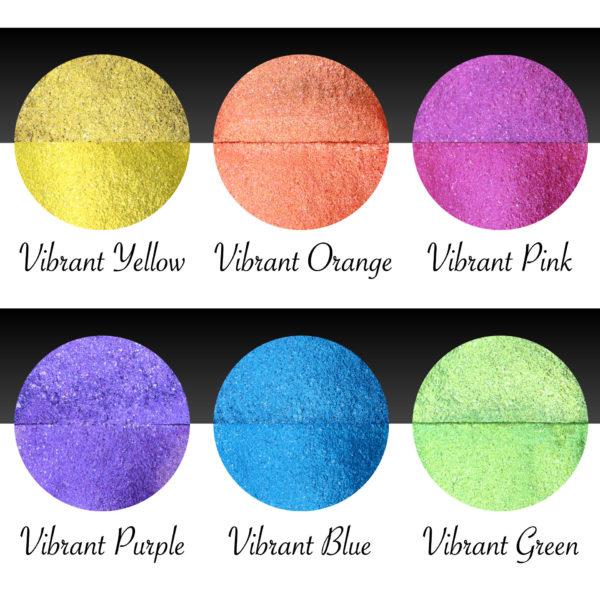 Ukázka akvarelových barev v setu Coliro Vibrant
