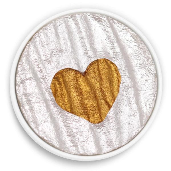 Barva Coliro Heart of Gold (odstín M019): zlaté srdce na stříbrném pozadí